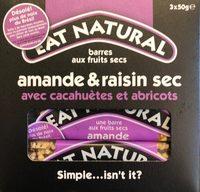 Fruit & Nut Bar Almond & Sultana 3 x - Product - fr