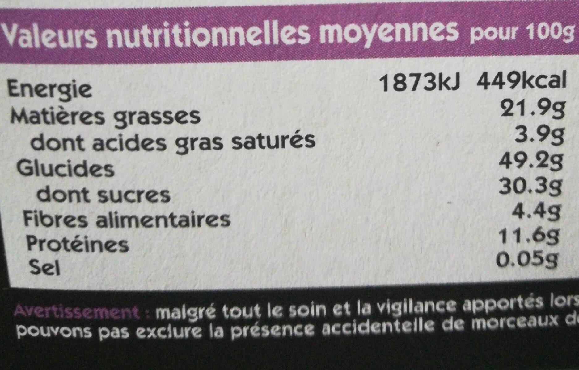 Fruit & Nut Bar Almond & Sultana 3 x - Voedingswaarden - fr