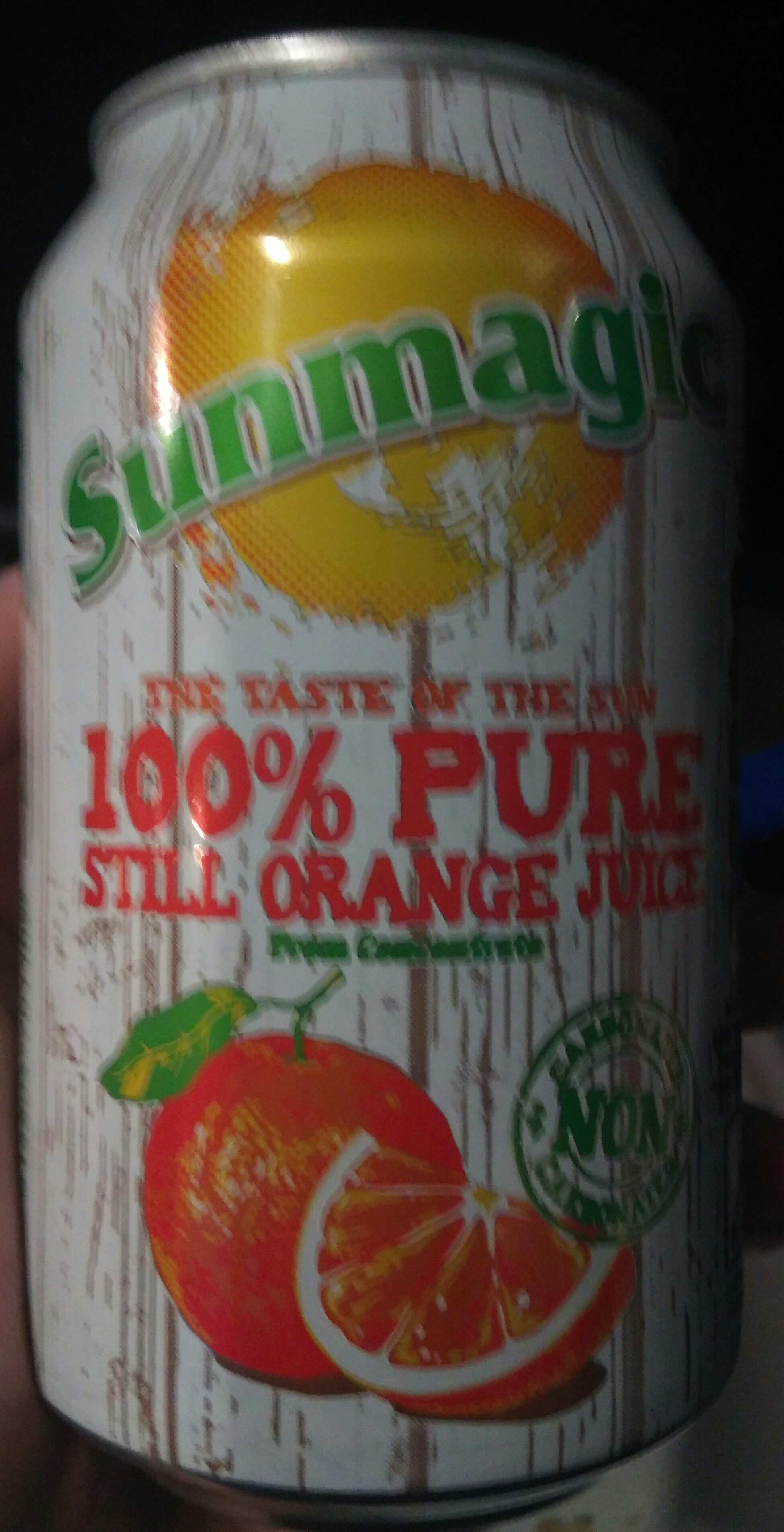 Sunmagic Pure Orange Juice (cans) - Product