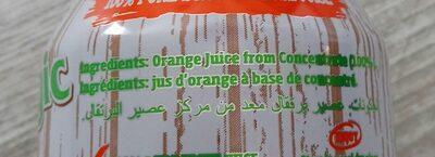 Sunmagic Pure Orange Juice (cans) - Ingrediënten