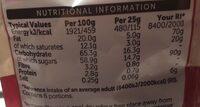 Dark chocolate cranberries - Valori nutrizionali - en