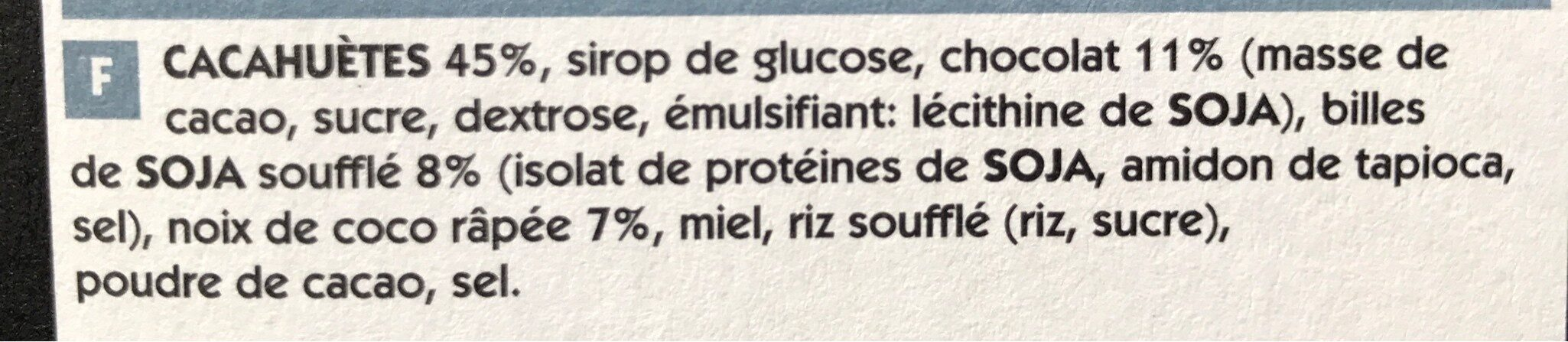 Crunchy nut bar protein packed - Ingredients