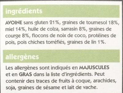 Eat Natural Super Granola - Ingrédients - fr