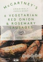 Red onion and rosemary sausages - Product