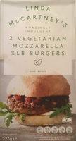 Linda Mccartney's 2 Vegetarian mozzarella 1/4 lb burgers - Product - en
