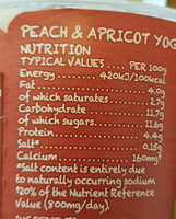 Peach & apricot - Nutrition facts