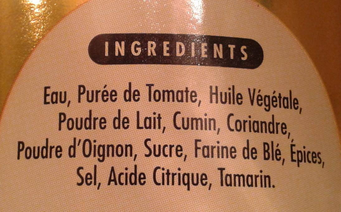 Sauce curry tikka massala simtom 360 g - Acide citrique leclerc ...