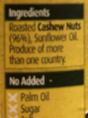 Smooth Cashew Butter - Ingredients - en