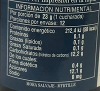 St. Dalfour Mora salvaje - Información nutricional - es