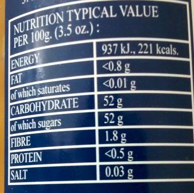Thick Cut Orange Spread - Nutrition facts - en