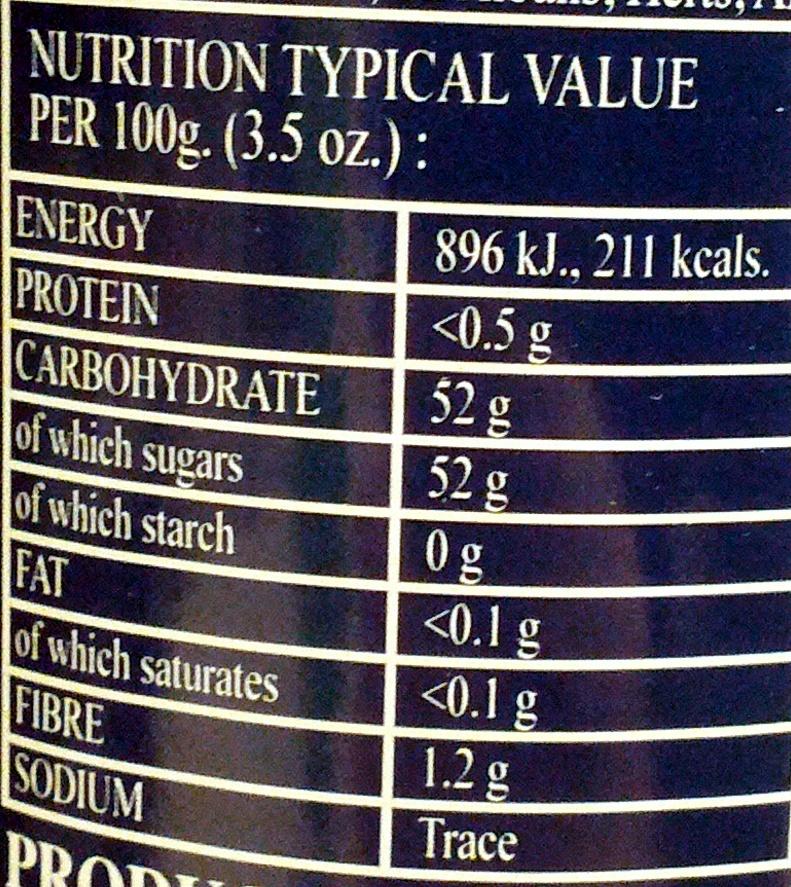 Rhapsodie de fruit Strawberry - Nutrition facts - en