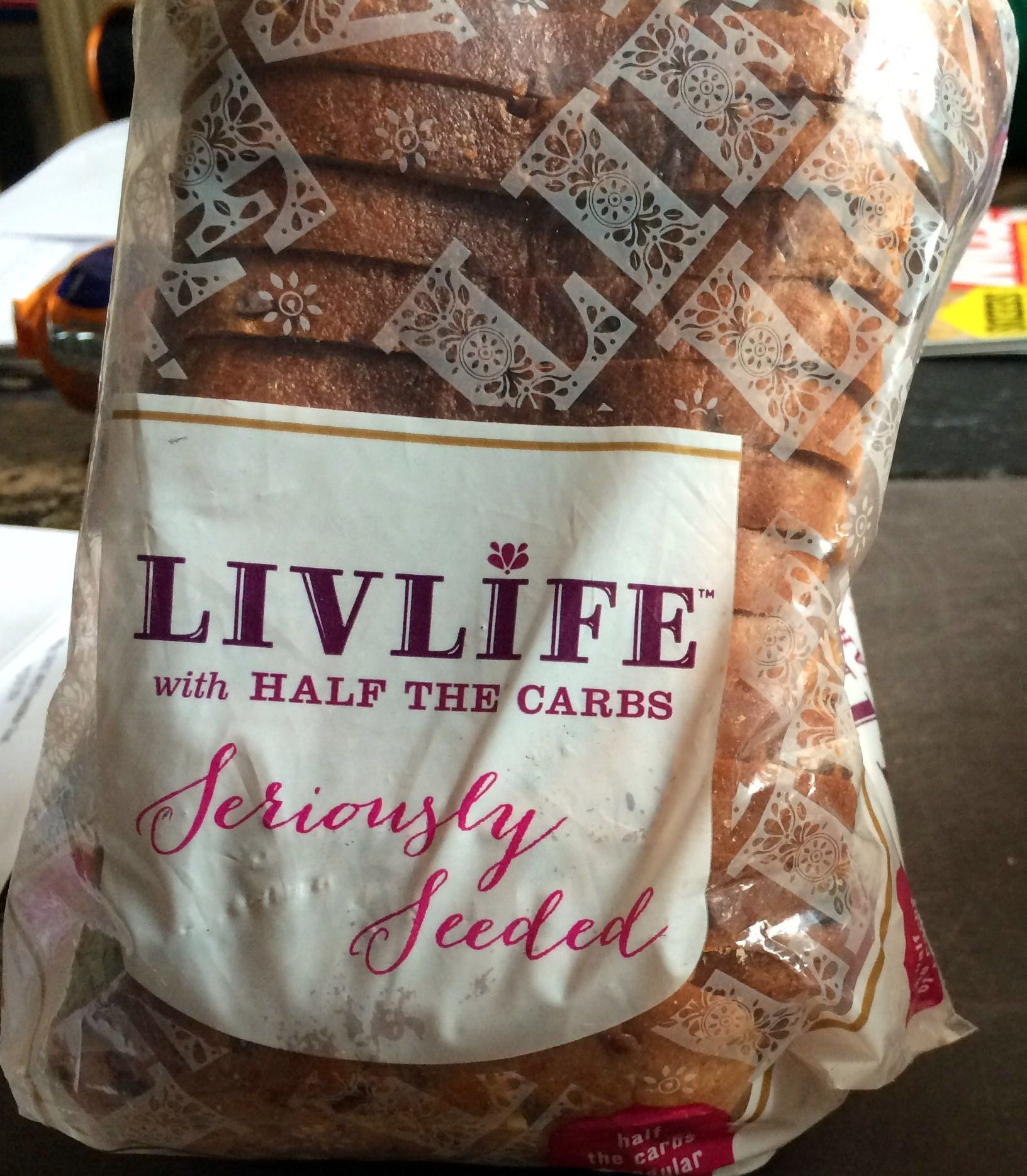 Livlife with Half the Carbs Seriously Seeded - Produkt - en