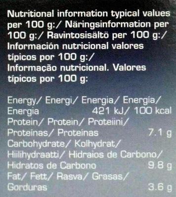 Wakame Miso Soup Paste 5 Sachets - Informations nutritionnelles