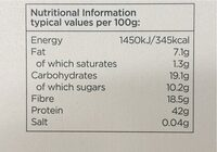 Edamame Noodles - Valori nutrizionali - en