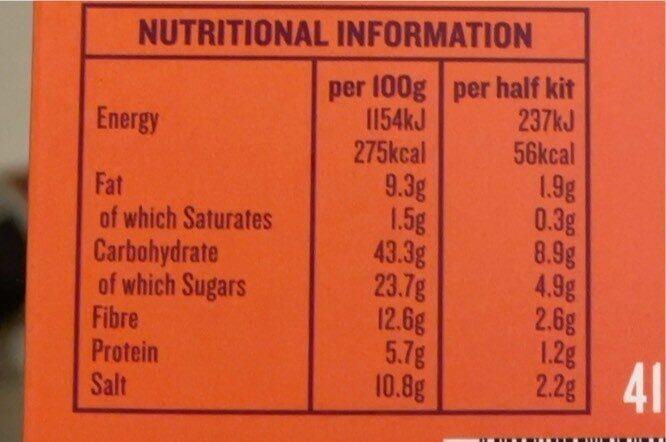 Simply cook - Informação nutricional - en