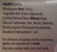 Orkney oatcakes - Ingredients