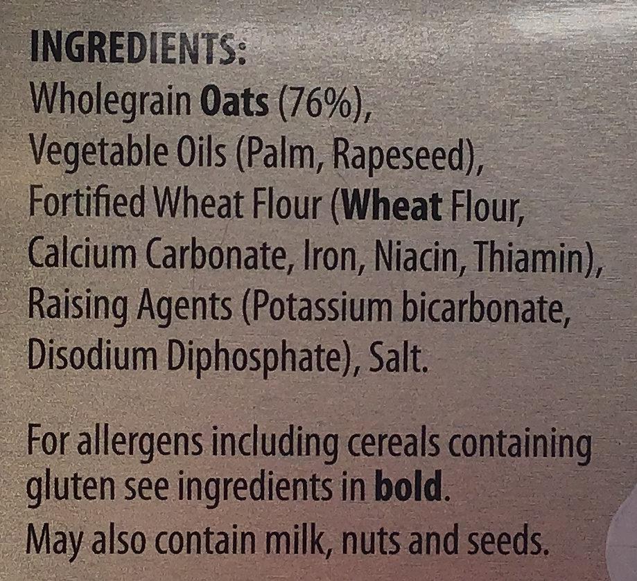 Orkney oatcakes - Ingredients - en