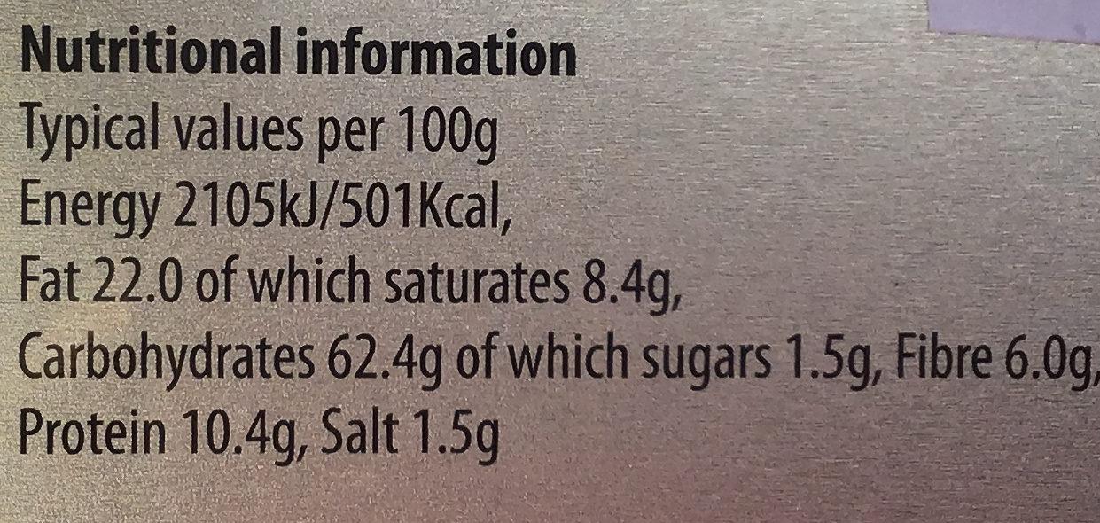 Orkney oatcakes - Nutrition facts - en