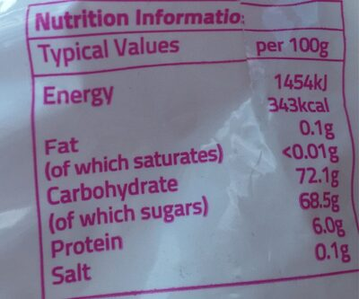 Marsh mallows - Nutrition facts