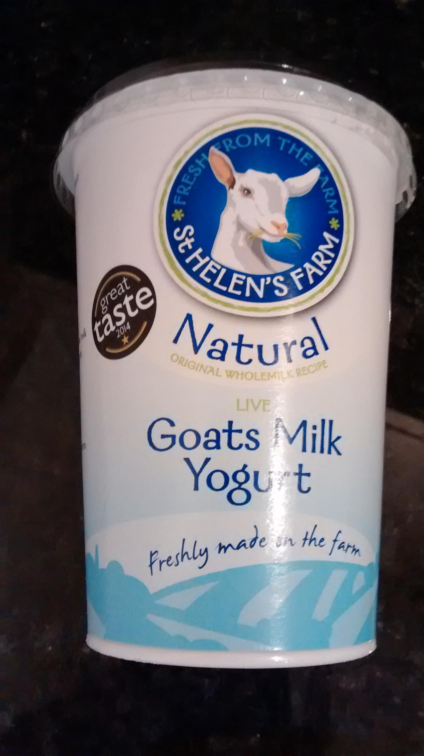 St Helen's Farm-Natural Goats Milk Yoghurt - Product - en
