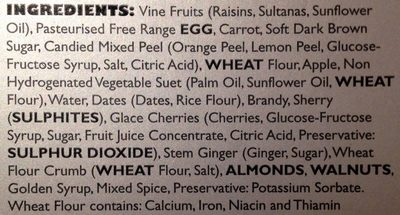 The Ultimate Plum Pudding - Ingrediënten - en