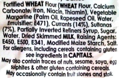 Chorley Cakes - Ingredients - en
