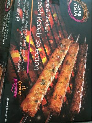 Cafe Asia Lamb & Chicken Sheekh Kebab Selection - Producte - fr