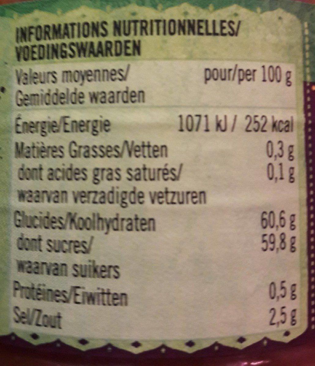 Chutney épicé à la mangue - Voedingswaarden - fr