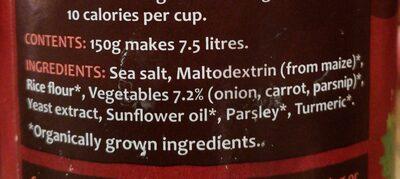 Organic Swiss Vegetable Vegan Bouillon Powder - Ingrédients - en