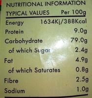 Pretzels - Informations nutritionnelles