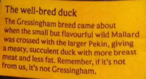 Gressingham Duck - Ingredients - en