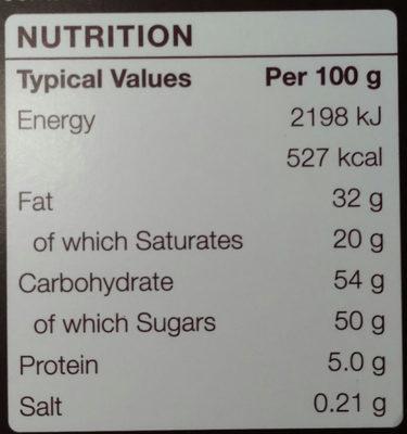 Continental - The Taste Journey - Informations nutritionnelles - en