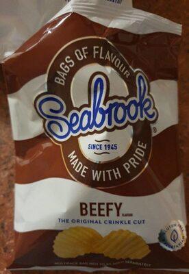 Beef flavour Crinkle Cut Crisps - Product - en