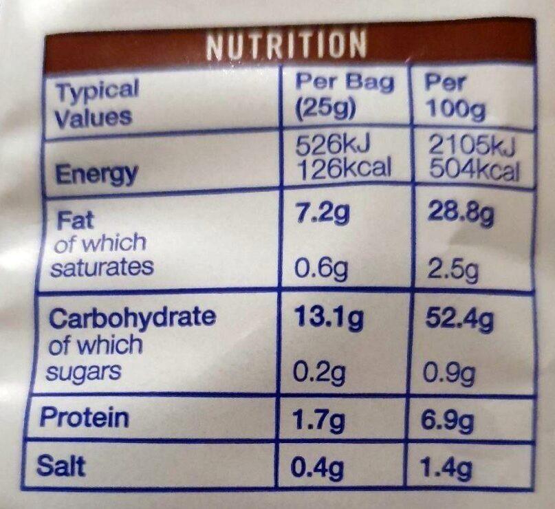 Beef flavour Crinkle Cut Crisps - Nutrition facts - en