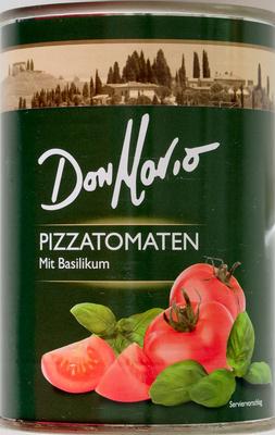 Pizzatomaten mit Basilikum - Produkt