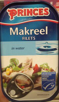 Makreel filets in water - Product - nl