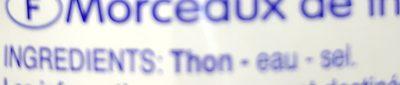 Morceaux de thon - Ingrédients - fr
