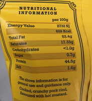 Hot Mustard Pork Crackling - Nutrition facts