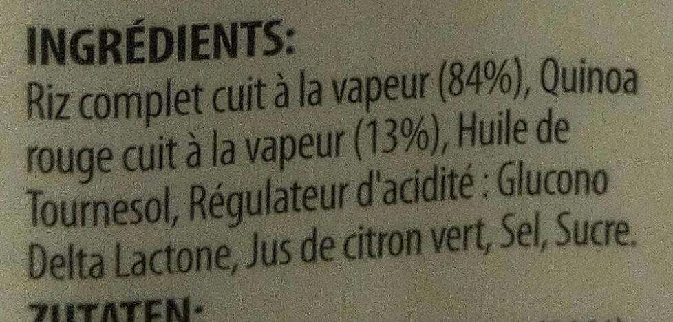 Riz Brun à Grains Entiers et Quinoa - Ingrédients - fr
