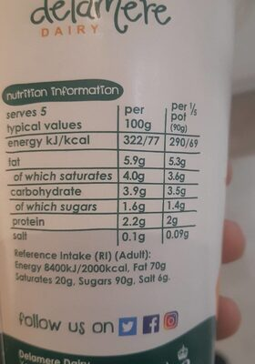 Goats yogurt - Nutrition facts - en
