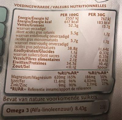 Semillas de cáñamo - Voedingswaarden - fr