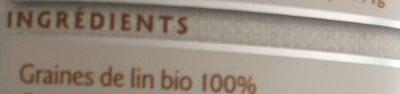 Graines de Lin biologique moulues - Ingredientes - fr