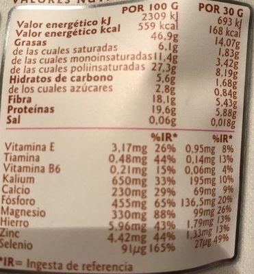 Linwoods Flaxseed Nuts & Q10 - Informació nutricional