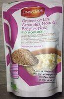 Graine de lin, amandes, noix du Bresil et noix - Product - fr
