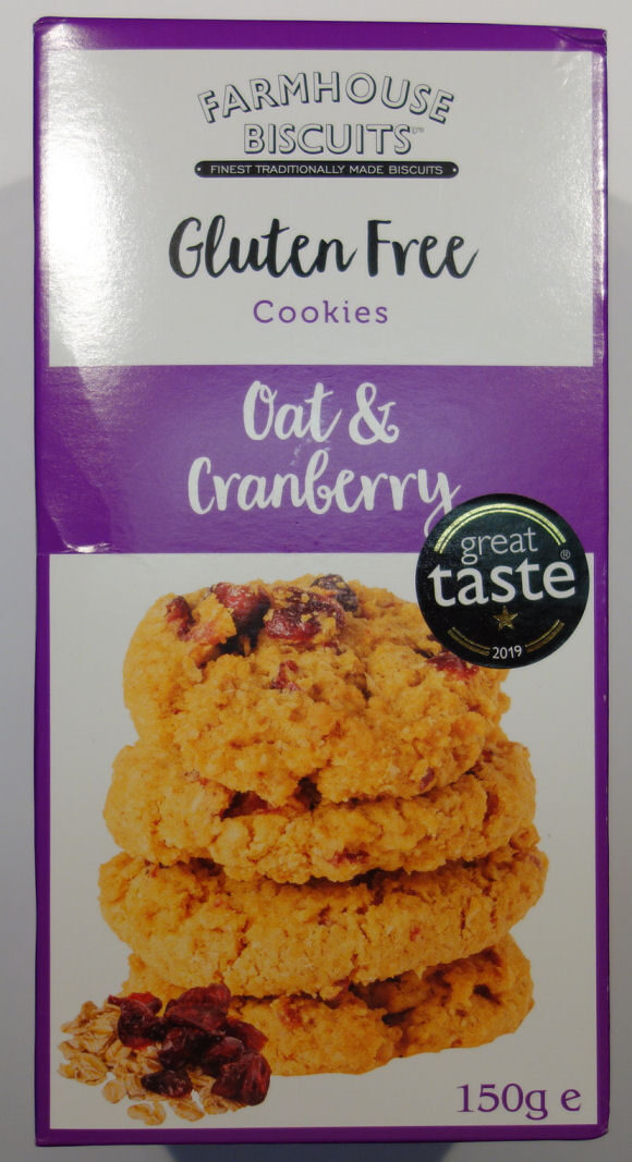 Gluten Free Cookies Oat Cranberry Farmhouse Biscuits 150 G