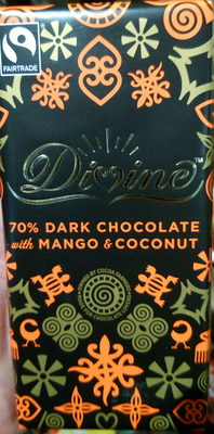 Dark chocolate with mango and coconut - Product