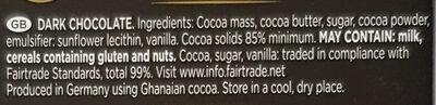 Ark chocolate 85% - Ingredients