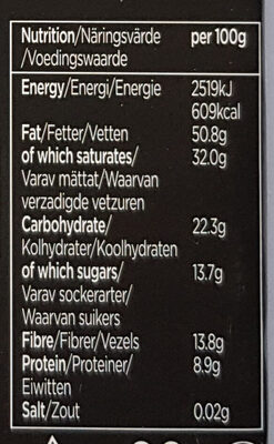 Ark chocolate 85% - Nutrition facts