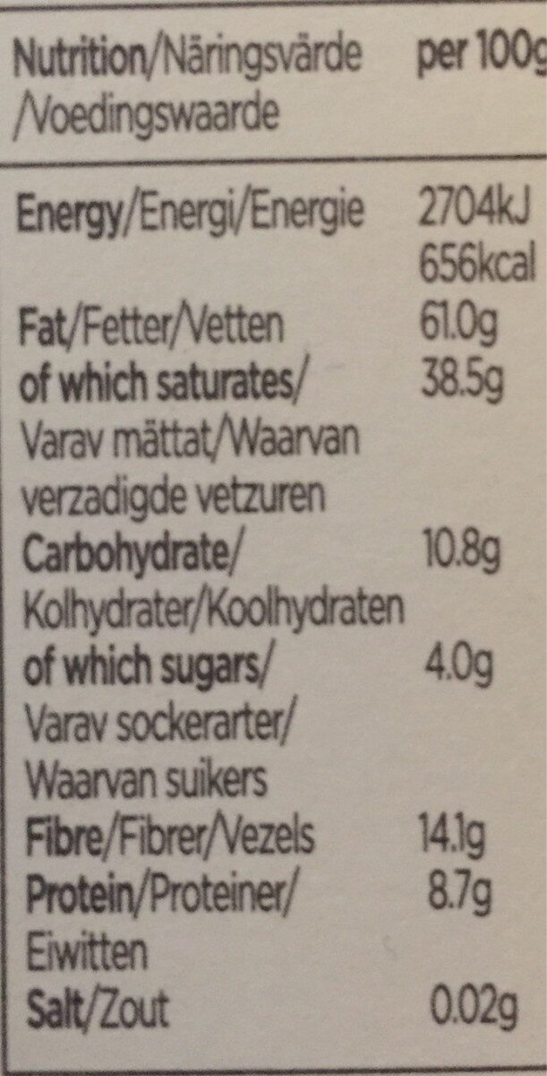 Chocolat 95% cacao - Nutrition facts