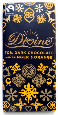 Chocolat noir 70 % avec du gingembre et de l'Orange - Produit
